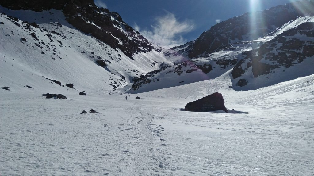 Ski touring in morocco