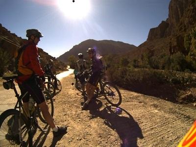 Biking in morocco